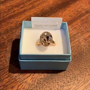 Swarovski gold stone ring NWT